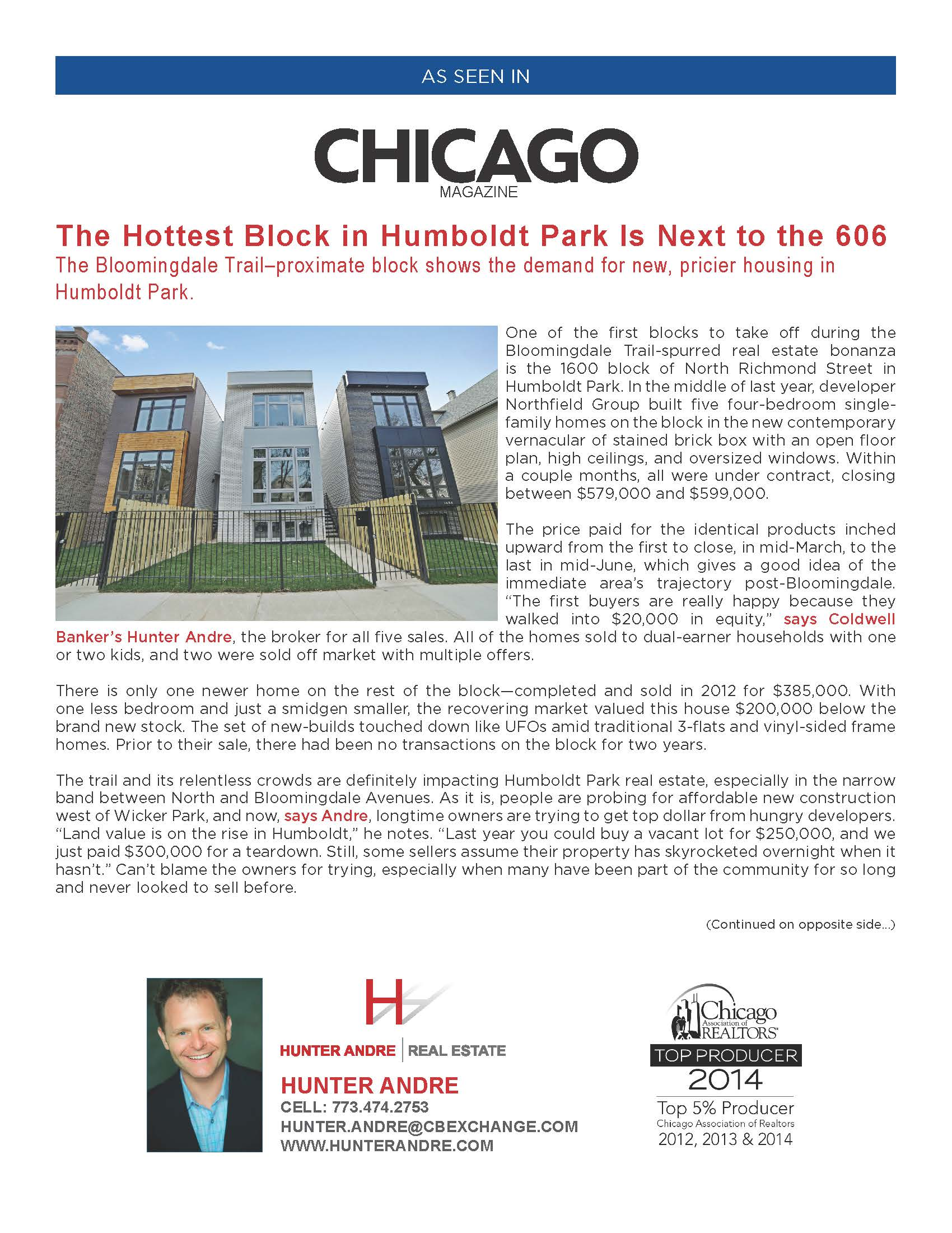 Chicago Magazine - Hottest Block in Humboldt Park