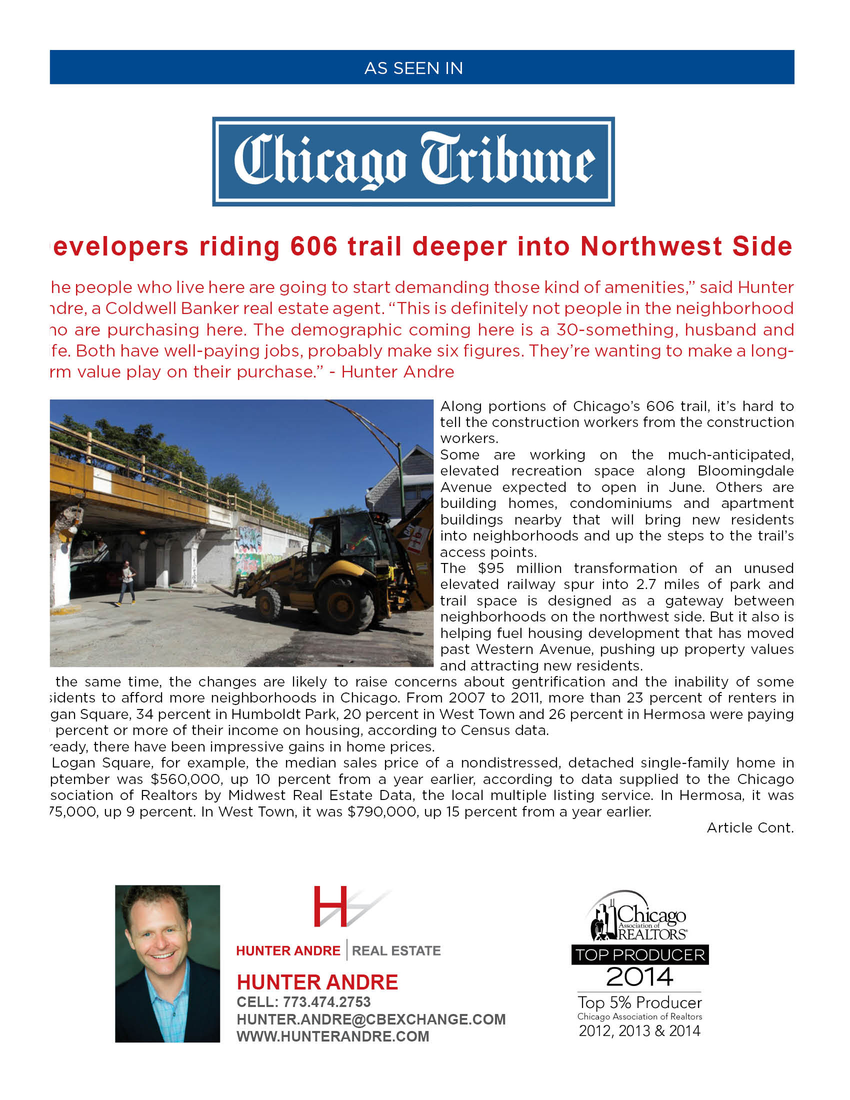 Chicago Tribune - Developers 606