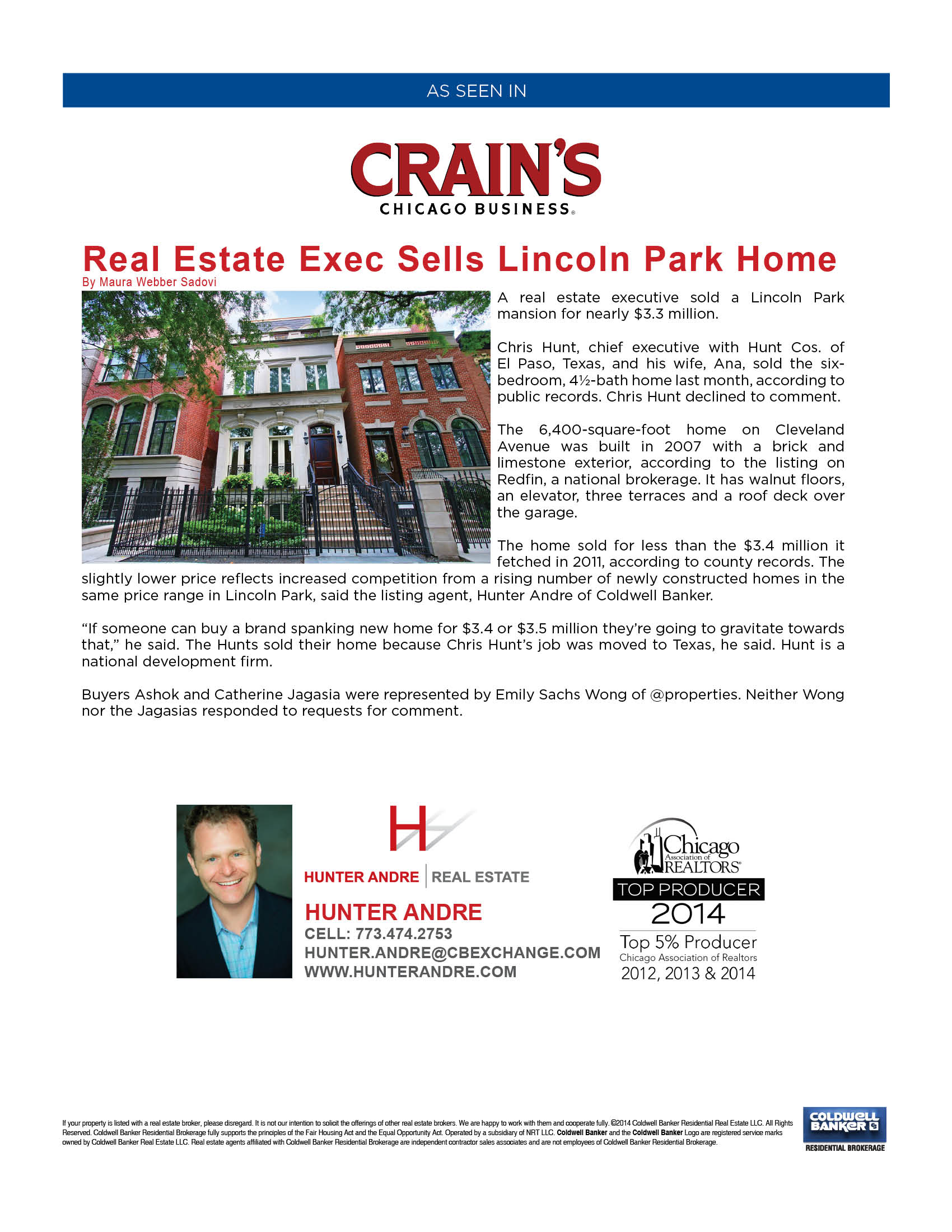 Crain's Chicago Business - Lincoln Park Home