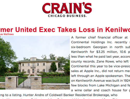 Former United Exec Takes Loss in Kenilworth
