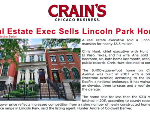 Real Estate Exec Sells Lincoln Park Home