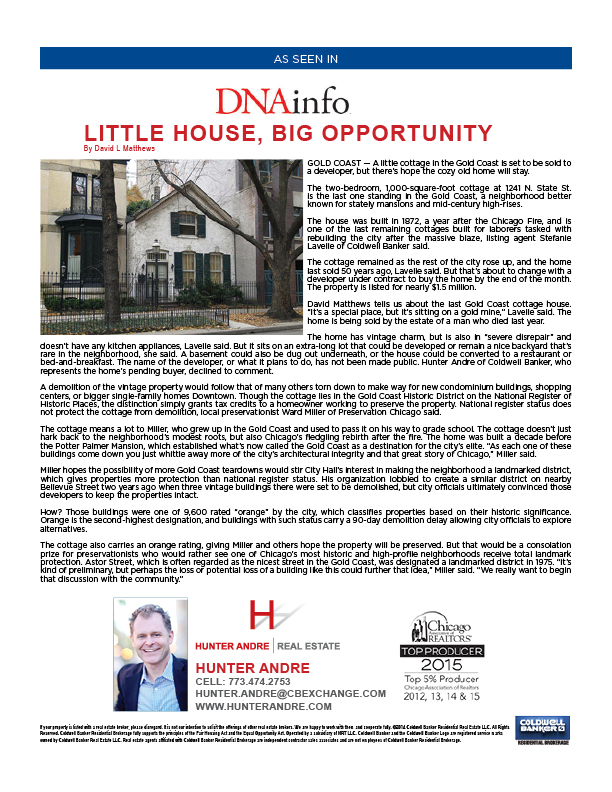 DNA Info - Little House, Big Opportunity