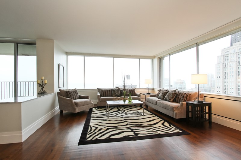 Gold Coast - 1000 North Lake Shore Drive Unit 38B, Chicago, IL 60611 - Living Room