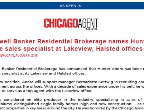 Coldwell Banker Residential Brokerage names Hunter Andre sales specialist at Lakeview, Halsted offices