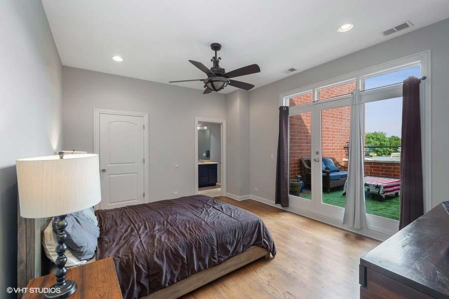 Logan Square - 2402 West McLean Avenue Unit 402, Chicago, IL 60647 - Master Bedroom
