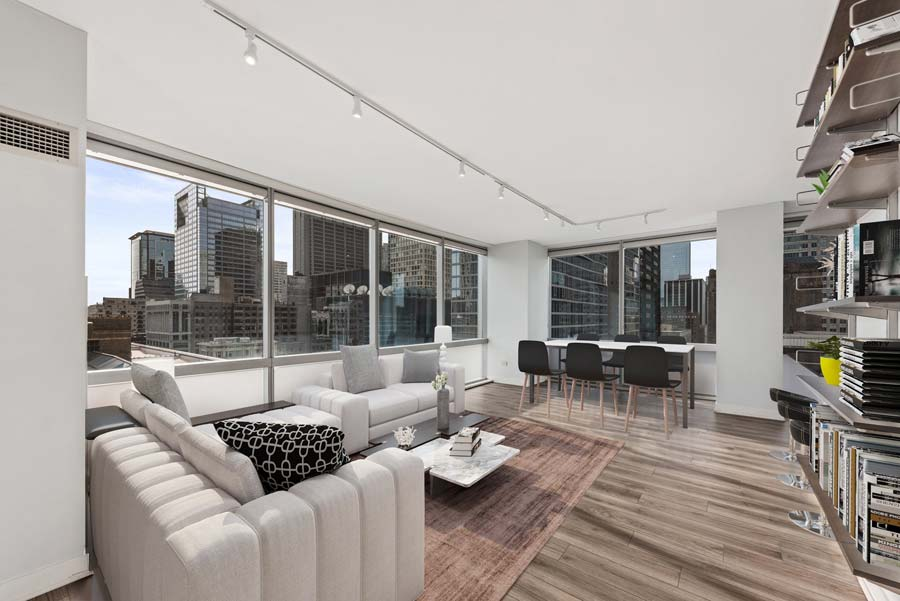 The Loop - 8 East Randolph Street Unit 1808, Chicago, IL 60601 - Living Room
