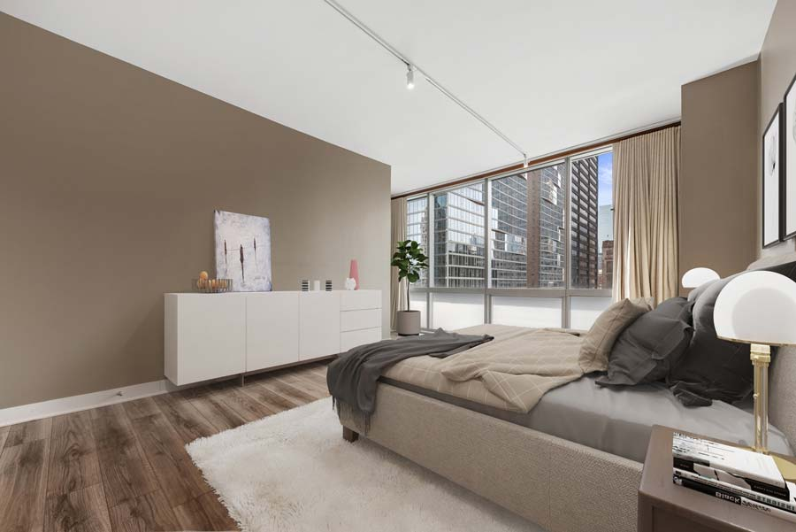 The Loop - 8 East Randolph Street Unit 1808, Chicago, IL 60601 - Master Bedroom