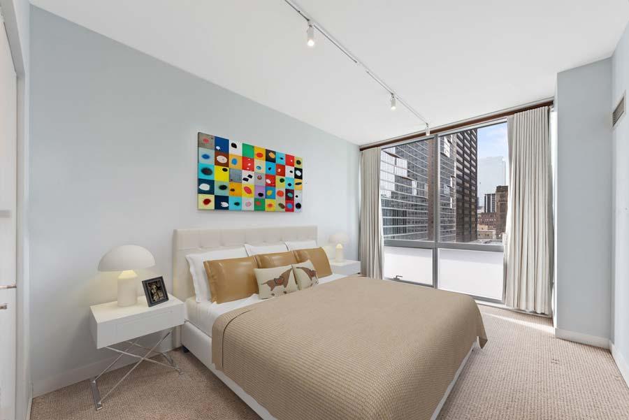 The Loop - 8 East Randolph Street Unit 1808, Chicago, IL 60601 - Bedroom