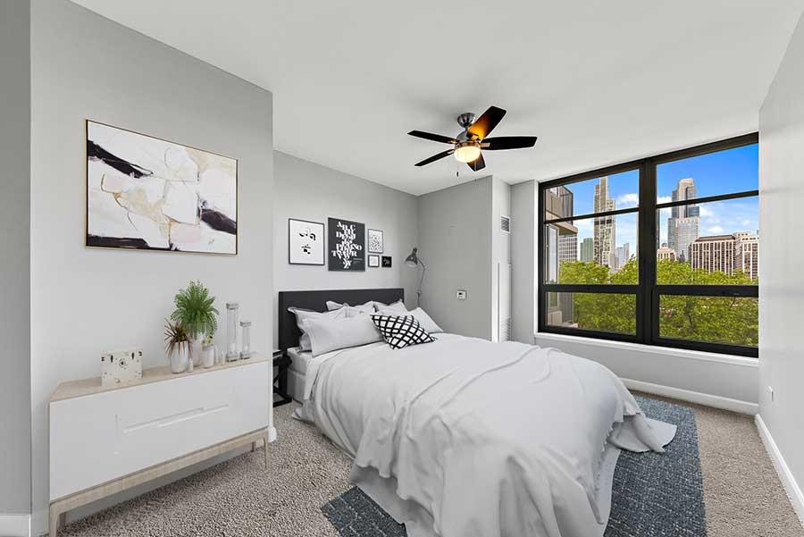 South Loop - 1600 South Prairie Avenue Unit 703 Chicago IL 60616 - Bedroom